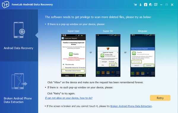 restore lost contacts from Samsung
