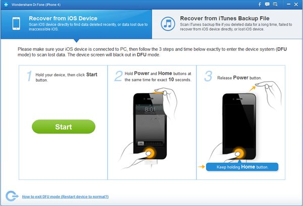 Recover iPhone SMS messages
