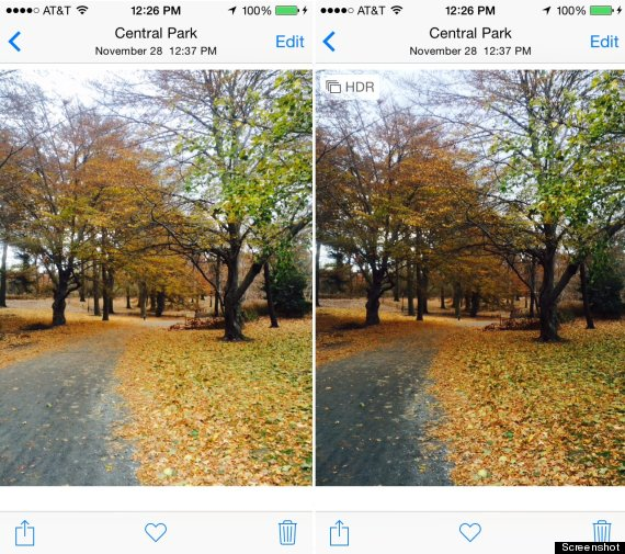 Only save HDR photos