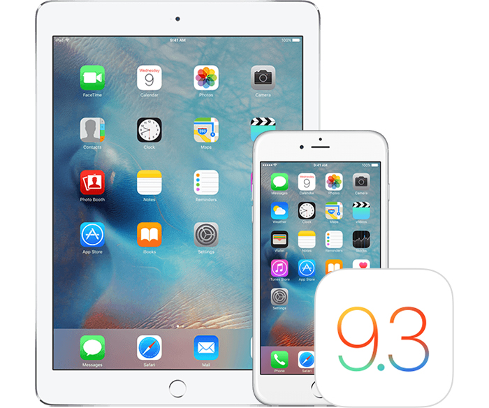 apple ios 9.3.3 on iPhone iPad