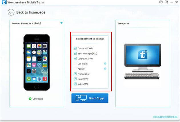 backup iphone messages to pc