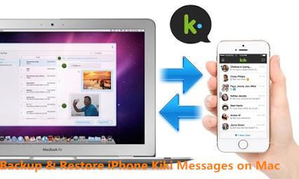 backup restore iPhone kiki messages on Mac
