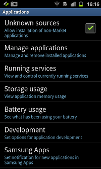 Enter Settings Enter Developer Options USB debugging Android 2.3