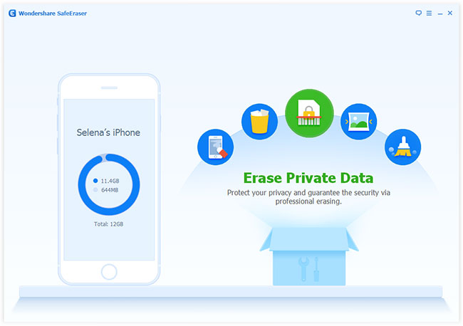 erase private data on iPhone