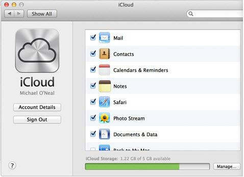 synd contacts to iPhone via iCloud