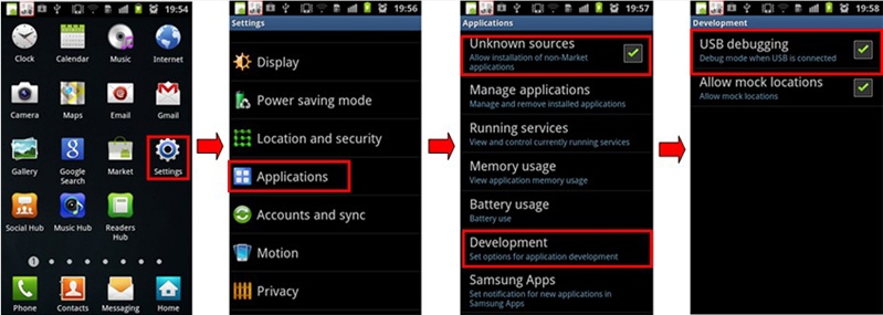 Enable USB Debugging Mode on Android smartphone
