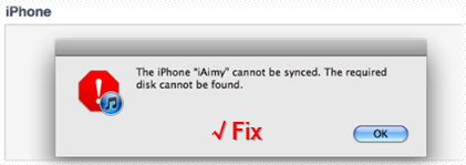 iPhone Can't be Synced to iTunes