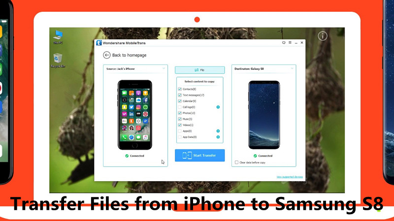 transfer data contacts from iPhone to Samsung S8,S8 Plus