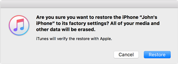 Factory Reset an iPhone Using iTunes