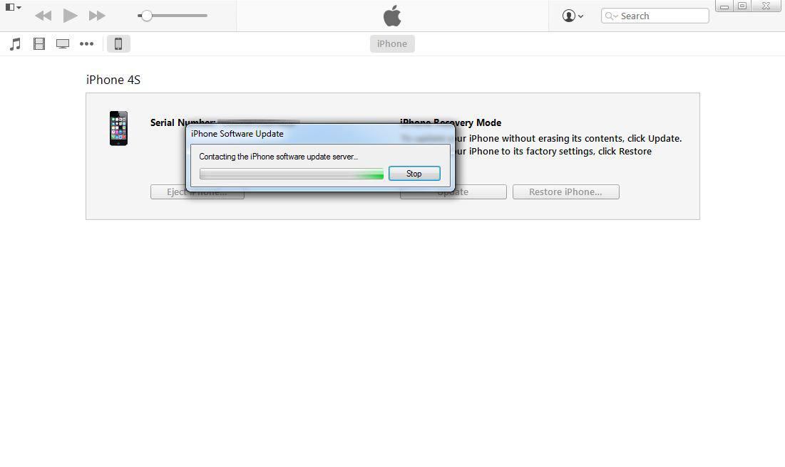 Using iTunes to Hard Reset a Locked iPhone