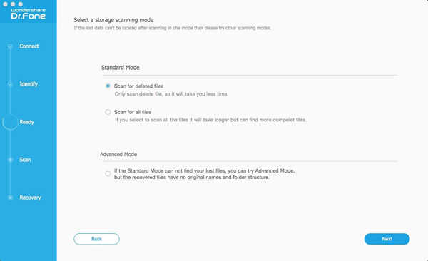 Recover lost data from Android on Mac