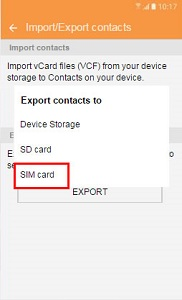 Import SIM Cad contacts to Samsung Galaxy S7