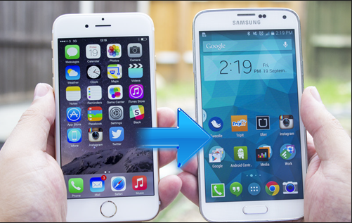 transfer files from iPhone to Samsung Galaxy