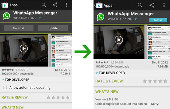 Recover Whatsapp Messages from Samsung Galaxy S5