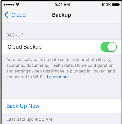 backup iphone contents to iCloud