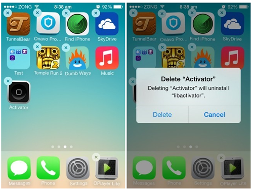 removing iphone apps
