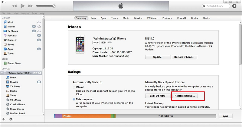 Fix iPhone iPad White Screen of Death via iTunes