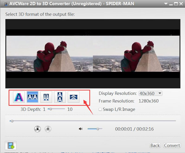 outputting Red/Cyan Anaglyph 3D video format
