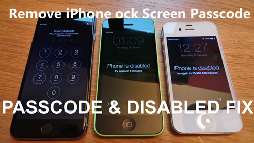reset any disabled or password locked apple iphone 6s 6 5s 5c