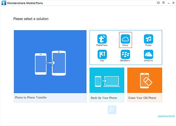 restore iCloud data to Samsung S8