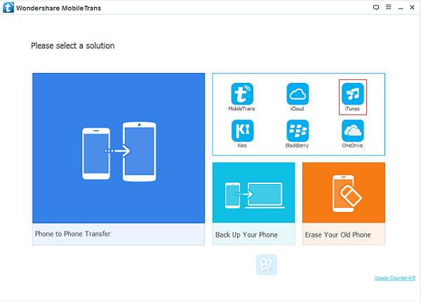 Restore iTunes data to Samsung S8