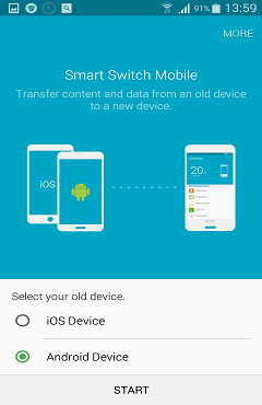 Transfer Samsung contacts with Samsung Smart Switch