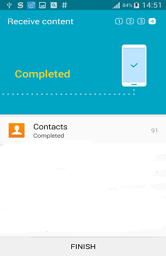Copy Samsung contacts with Samsung Smart Switch