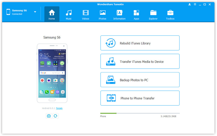 samsung galaxy phone manager